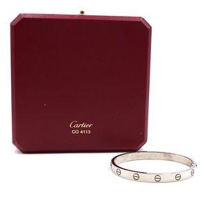 18k 750 Love Bangle Cuff Size 17 Bracelet